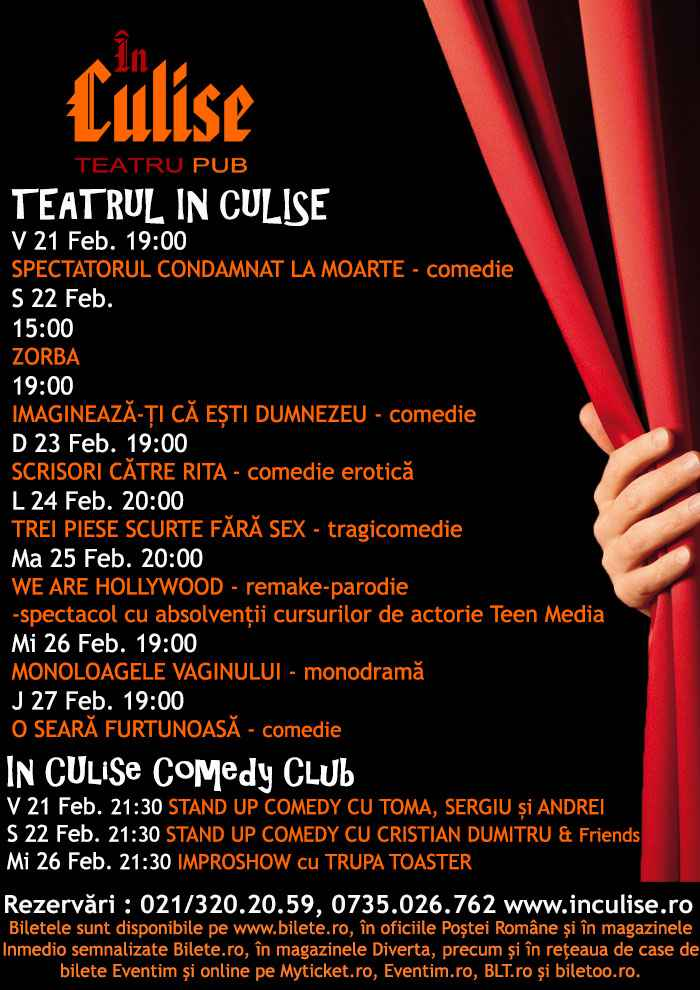 Program In Culise 21-27 Februarie