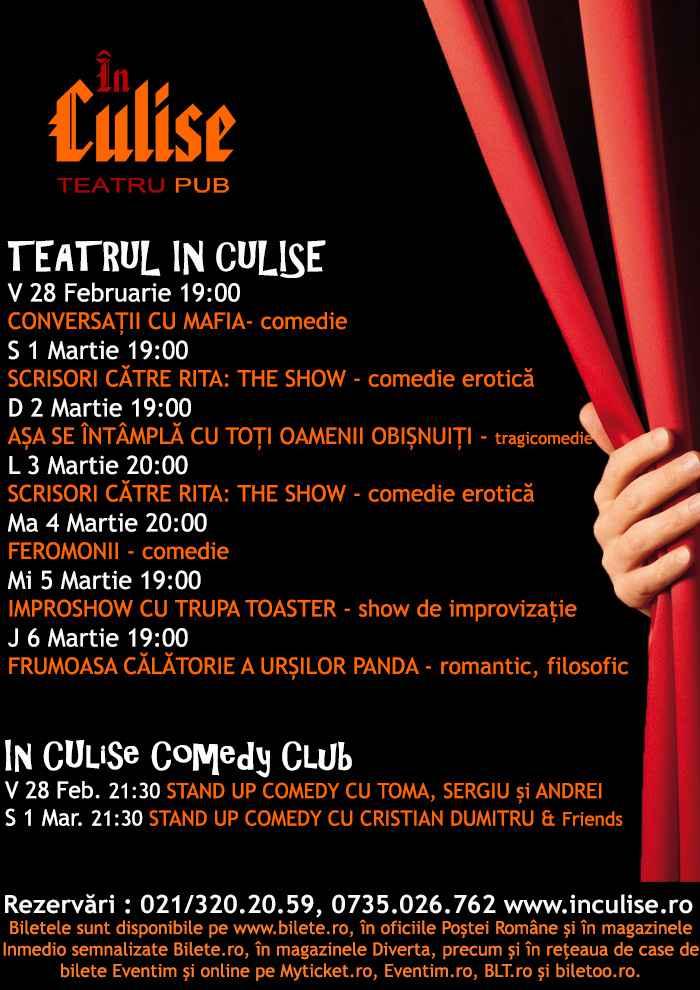 Program In Culise 28 Februarie - 6 Martie