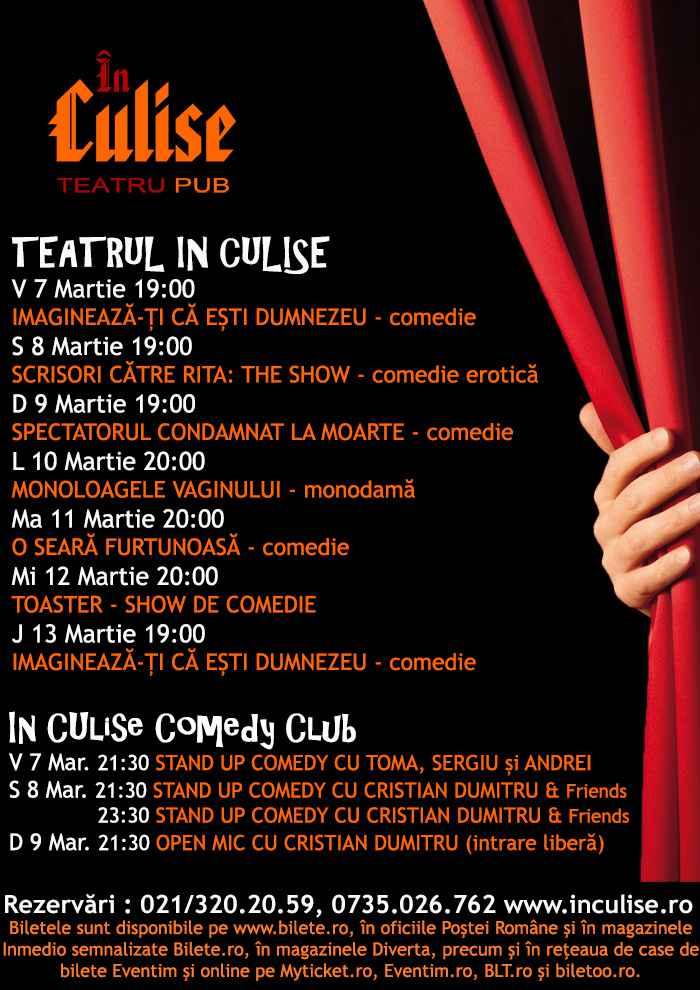 Program In Culise 7-13 Martie