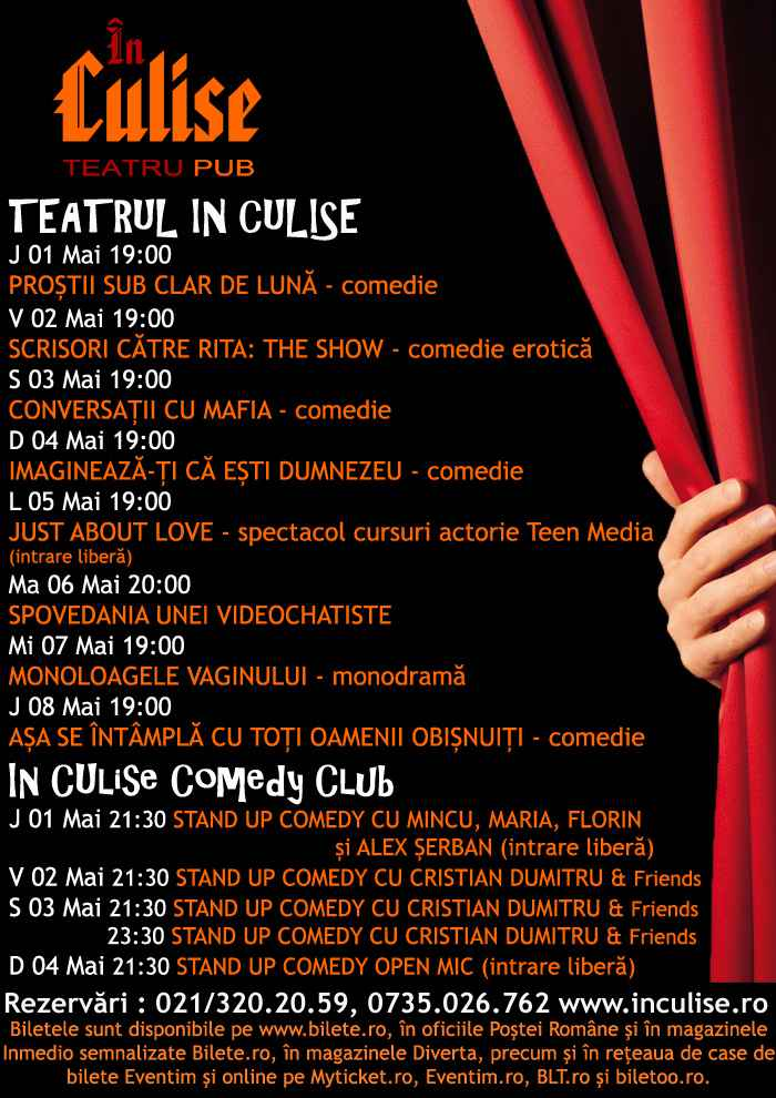 Program In Culise 01-08 Mai